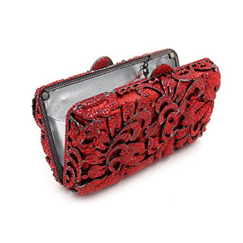 Borsa Da Sera Di Lusso Diamante High-end Borsa Banchetto Delle Donne Red