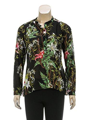 isabel-marant-etoile-black-multicolor-print-long-sleeve-top-size-34