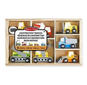Melissa & Doug- 13180 Wooden Construction Site Vehicles, Multicolor