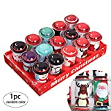 1Pcs Natale Candy Box di Natale creativo del biscotto barattoli con il coperchio decorativo Barattoli di latta di Natale per la caramella, biscotto, cioccolato, Stile Casuale