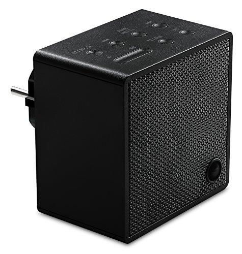 MEDION P65700 Steckdosenradio mit Bluetooth- Funktion, Bluetooth 4.2, NFC, PLL UKW Radio, integriertes Nachtlicht, schwarz