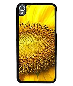 Fuson Designer Back Case Cover for HTC Desire 820 :: HTC Desire 820 Dual Sim :: HTC Desire 820S Dual Sim :: HTC Desire 820Q Dual Sim :: HTC Desire 820G+ Dual Sim (Closeup Yellow Sunflower Fresh Beauty Girls Woman)
