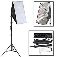 Points Forts:  · Pour une utilisation universelle comme lumière principale ou supplémentaire - dans le studio photo, ou pour les prises de photo en extérieur · Facile à assembler · Lampe à économie d'énergie d'une puissance de env. 55 W · La boite à ...