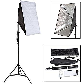 TecTake Boite Lumière Softbox env. 40 Watt 5500K pour Flash Studio Photo Video