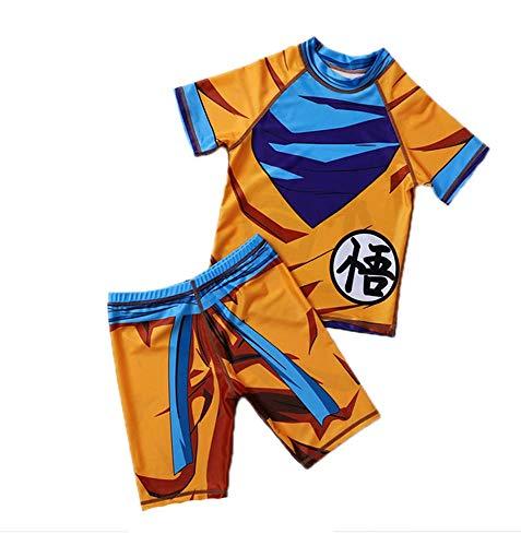 Traje de baño para niños Dragon Ball Sun Goku Boys Traje de baño de Secado rápido Protector Solar...