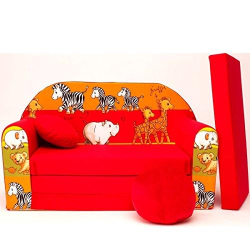 Barabike D2z + Canapé d'enfant bébé Canapé Mini Canapé Canapé lit Pouf Lot de 3 en 1 d'oreillers en Mousse