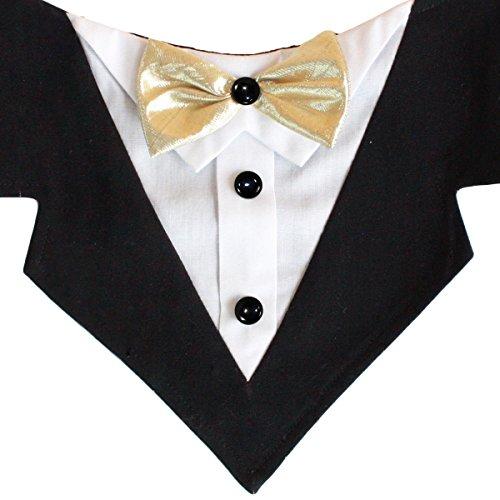 Schwanz Trends Formale Dog Tuxedo Bandana mit Fliege und Hals Krawatte Designs, X-Large, Mr. - Schwanz Tuxedo Kostüm