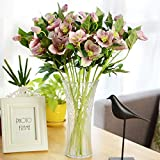 XdiseD9Xsmao 1 Stück 3 Köpfe Lebendige Farbe Erfrischende Gefälschte Blume Künstliche Blume Möbel Anordnung Hochzeit DIY Dekor Ornament Rosa