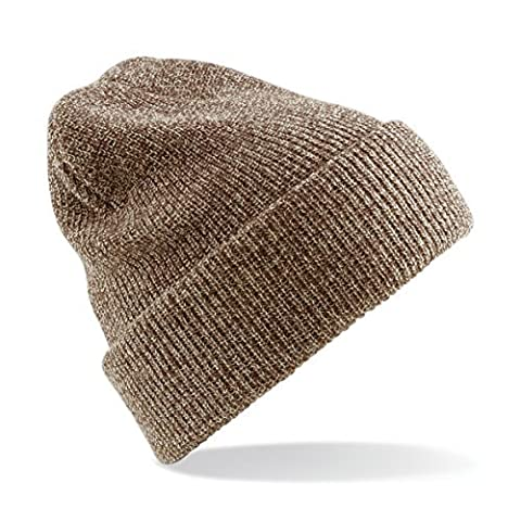 Heritage Beanie Hat Available In 19 Colour Variations (Heather Oatmeal)