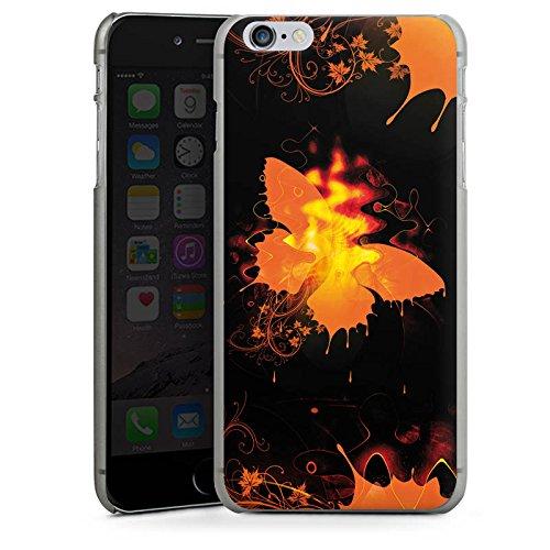Apple iPhone X Silikon Hülle Case Schutzhülle Schmetterling Feuer Flamme Hard Case anthrazit-klar