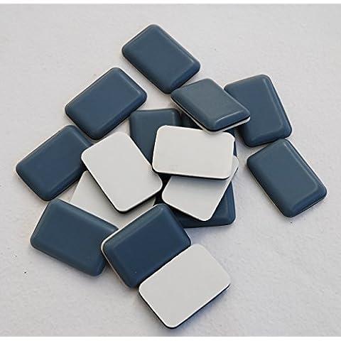 16 Scivoli in PTFE, adesivi 24x34 mm, rettangolare, grigio Mobili