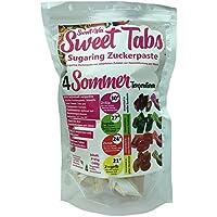 Sweet Wax Sweet Tabs 4 Sommer Temperaturen - Das perfekte, günstige, Enthaarungs Einsteiger Set - Enthaarungswachs aus Sugaring Zuckerpaste - Keine Vliesstreifen oder Erwärmen nötig - 8 * 45g =360g