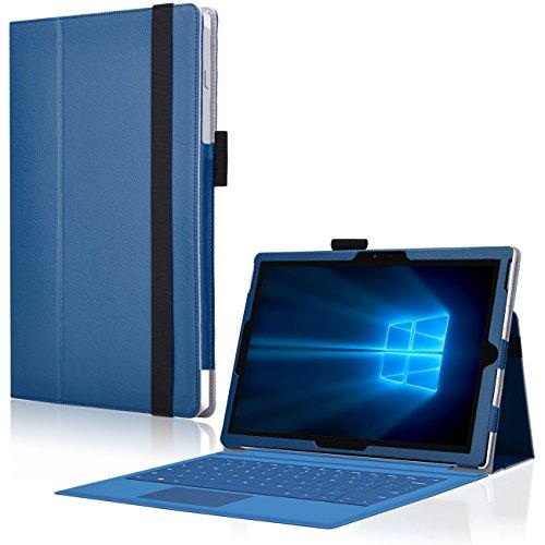 Tablet Tasche für Microsoft Surface Pro 2017 Hülle Blau Schutzhülle Case Cover