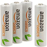 AmazonBasics AA Pre-Charged Rechargeable Batteries 2000 mAh [Pack of 4]