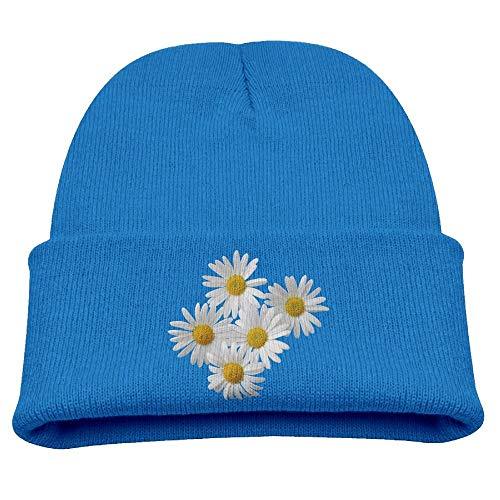 KKAIYA Daisies Flowers White Beanie Caps Knit Hats Winter Warm Infant -