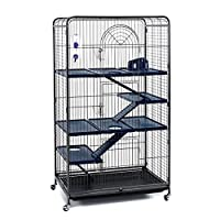 Little Friends Blenheim Extra Tall Rat Cage with Accessories, 140 cm, Black