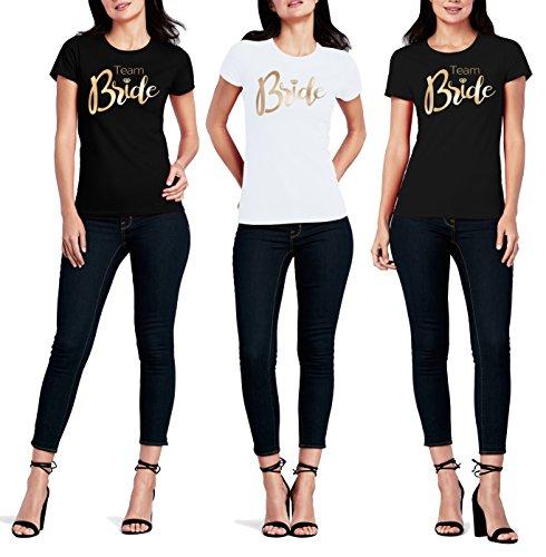 Cold & Heartless Bride gold T-Shirt Junggesellinnenabschied Junggesellenabschied Bachelorette Party (XXL, Bride - Rosa)