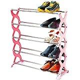 Nathji Stainless Steel Nice 5 Tier Shoe Rack