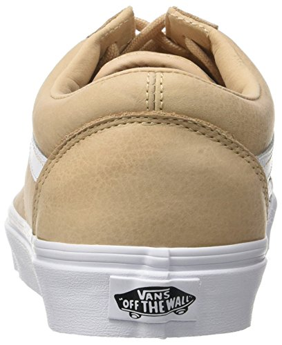 Vans Herren Ua Old Skool Sneakers Beige (Premium Leather Toasted Almond/true White)