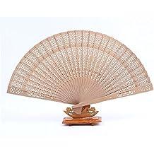 Schwarzer glänzender Handfächer aus Holz 23cm SCHWARZ Fächer Fan Flamenco edel
