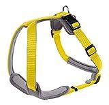 Hunter Hundegeschirr Neopren, Größe XL, gelb/grau
