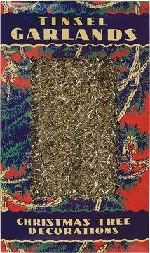 BCD Vintage Look dünn Gold Lametta Strand Girlande Country Primitiv Weihnachten Urlaub Dekor (Weihnachten Primitive Dekor)