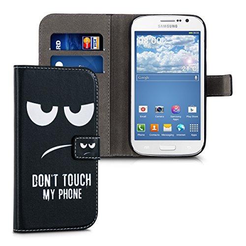 kwmobile Samsung Galaxy Grand Neo Custodia Portafoglio - Cover Magnetica con Stand in Simil Pelle - Case Porta Carte per Samsung Galaxy Grand Neo