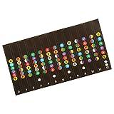 Sharplace Gitarrengriffbrett Notizen Karte Etiketten Aufkleber Abziehbilder für Gitarre Anfänger
