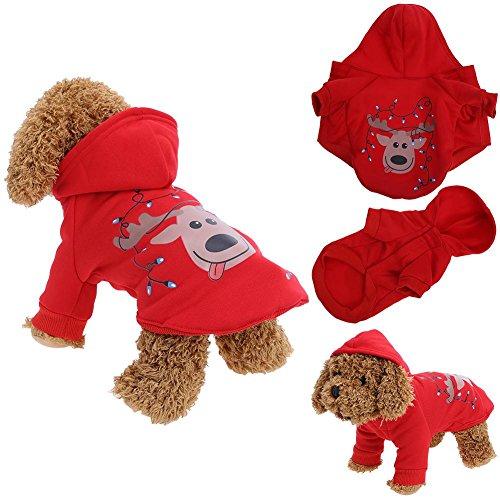 Pb peggybuy Pet Hund Weihnachten Kleidung Kleidung, Teddy-Jacke für Herbst und Winter Shirt Festival Pullover Rot, xl (Festival-aktivitäten Halloween-herbst)