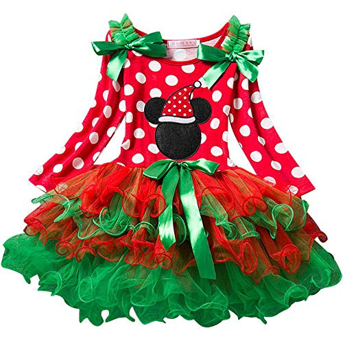 Santa Girl Kostüm Machen - QYS Baby Girls erste Halloween Weihnachten Kostüm Outfit Dress up,120cm