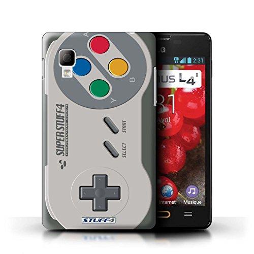 Kobalt® Imprimé Etui / Coque pour LG Optimus L4 II/E440 / Xbox conception / Série Console (jeux vidéo) Super Nintendo