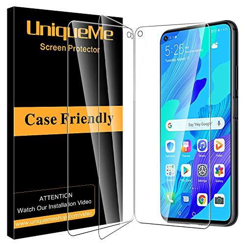 UniqueMe [3 pièces] Verre Trempé pour Huawei Nova 5T / Huawei Honor 20, [sans Bulles][9H Dureté] Ultra Résistant Film Protection écran pour Huawei Nova 5T / Honor 20