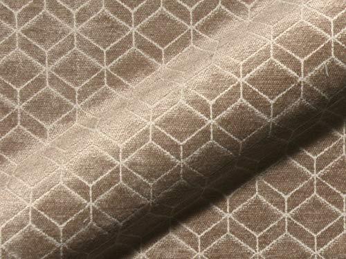 Raumausstatter.de Möbelstoff Retro 631 Muster Abstrakt braun als robuster Bezugsstoff, Polsterstoff zum Nähen und Beziehen