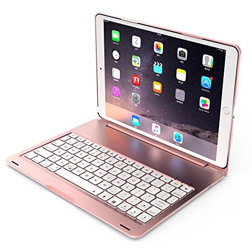 Tastatur 7Hintergrundbeleuchtung Farben Wireless Bluetooth Klapp Flip Schutzhülle für iPad Pro 10,5 (Fernbedienung Holster)