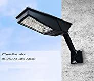 JOYWAY-Blue carbon 24 Led Lamp, Wireless Waterproof Solar Flood Light, Security Motion Sensor Light Outdoor Lu