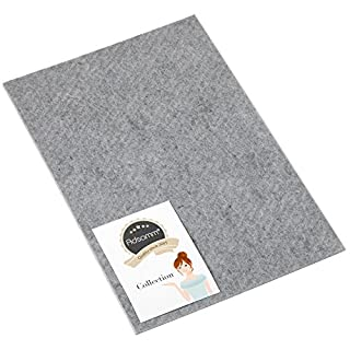 Adsamm®   self-Stick Felt Pads   7.87'' x 11.81'' (200x300 mm)   Grey   Rectangular   self-Adhesive Furniture Glides with Felt Thickness of 0.138''/3.5 mm in top-Quality