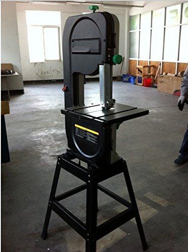 Gowe 254 mm 25,4 cm Scie à ruban 25,4 cm travail du bois Scie Woodeorking vertical Scie électrique 550 W max de coupe 170 mm Scie sauteuse