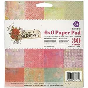 Prima Marketing Double face papier Pad 15cm x 15cm, Royal Ménagerie