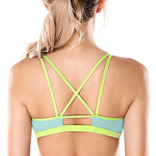 CRZ YOGA - Sujetador Deportivo Yoga Cruzados Sin Aros para Mujer 8 M