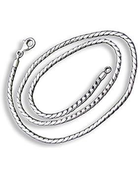 ISLAND PIERCINGS Massive 925er Silber Kette Halskette 4mm SN011-40cm