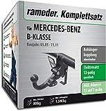 Rameder Komplettsatz, Anhängerkupplung abnehmbar + 13pol Elektrik für Mercedes-Benz B-KLASSE (148567-05396-1)