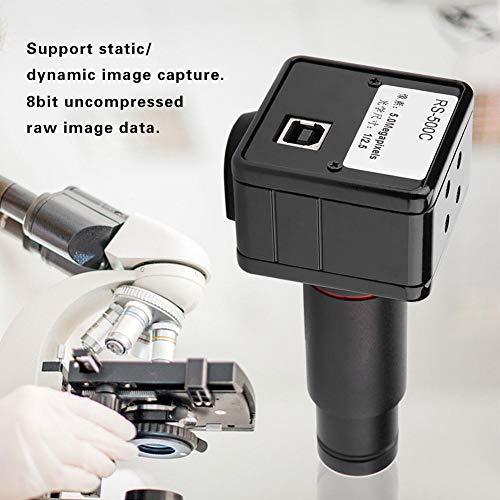 Mikroskopkamera,Industrie Okular Kamera 5MP USB 2.0 Microscope Camera Industriekamera 0.5X-mal CCD-Schnittstellenadapter Schrumpfspiegel,freies Laufwerk,1/2,5 Zoll Farb-CMOS-Bildsensor Ccd-farb-industrie-video-kamera