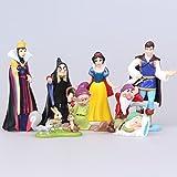 Princesas Disney - blanca nieve- set 8 figuras-con bolsa de plastica - 5-10cm
