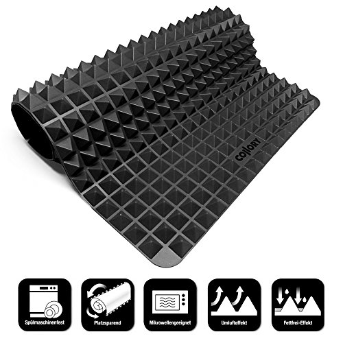 Collory Silikon Backmatte | Dauerbackunterlage | Hitzebeständig 240°C | 40x28x0.7cm | Lebensmittelecht (BPA-Frei) | Antihaftbeschichtet | Backform Hundekekse Hundeleckerlies