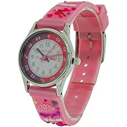 Reflex Time Teacher Kids Girls Pink 3D Silicone Princess Strap Watch REFK0009