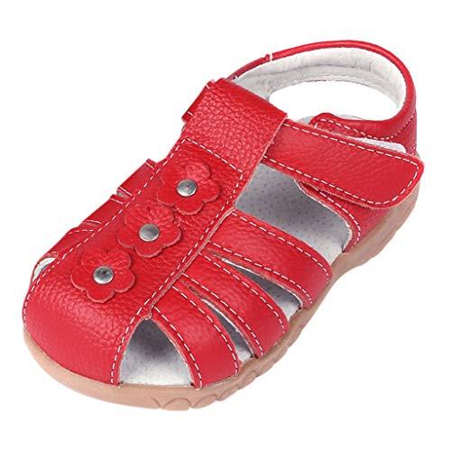 ndalen Babyshower Girl Jungen MäDchen Sandalen Leder Geschlossene Sommerschuhe Klettverschluss Sandaletten Unisex-Kindersandale Strand Outdoor Sport Lauflernschuhe ()