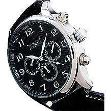 YPS Hombres Negro reloj automático 6 Manos multifunción mecánico suizo Reloj de pulsera-Negro WTH0805