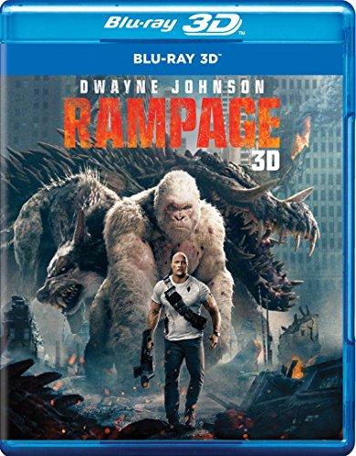 RAMPAGE (Blu-ray 3D + Blu-ray) English, Spanish and Portuguese Audio & Subtitles - IMPORT