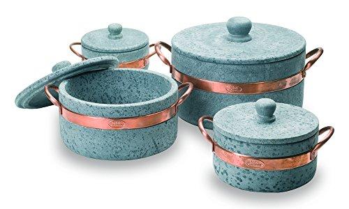 Fuego style 1casseroles en pierre ollaire, gris