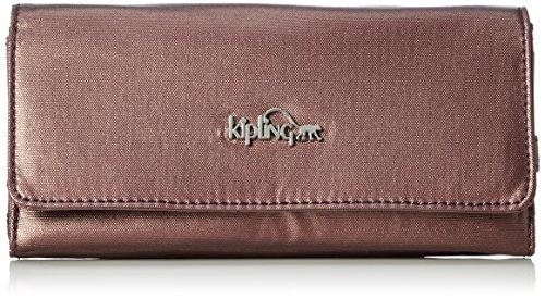 Kipling Brownie, Portafogli Donna Viola (REF34J Metallic Plum)